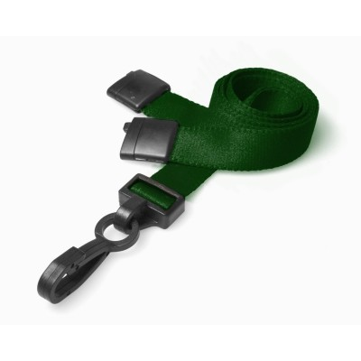 Deluxe Breakaway Safety Lanyards - Dark Green - 100 Pack