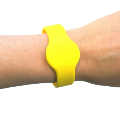 Large Silicone Yellow Wristband - MIFARE® 1K EV1