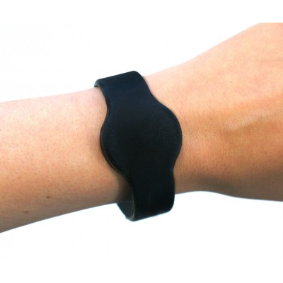 Medium Silicone Black Wristband - MIFARE® 1K EV1