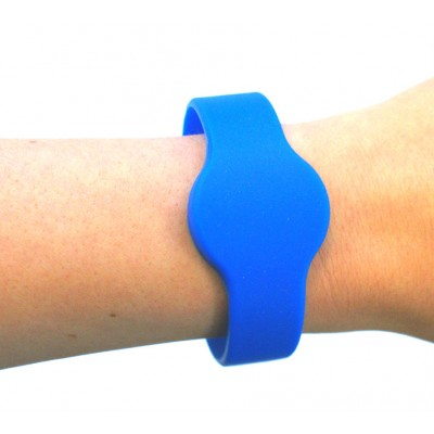 Medium Silicone Blue Wristband - MIFARE® 1K EV1