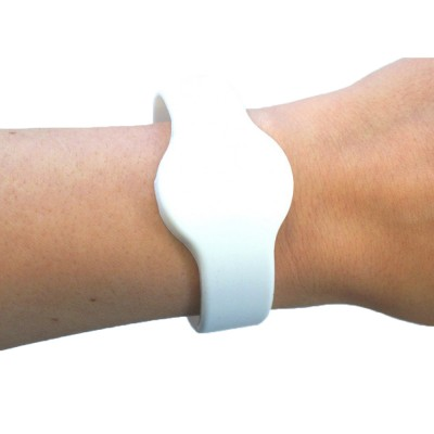 Medium Silicone White Wristband - MIFARE® 1K EV1