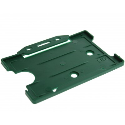 Open Faced Horizontal Badge Holders - Dark Green - 100 Pack