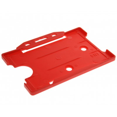Open Faced Horizontal Badge Holders - Red - 100 Pack