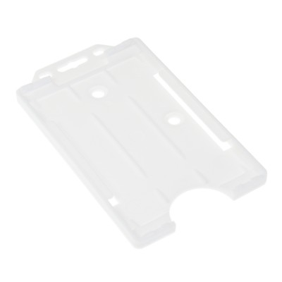 Open Faced Vertical Badge Holders - White - 100 Pack