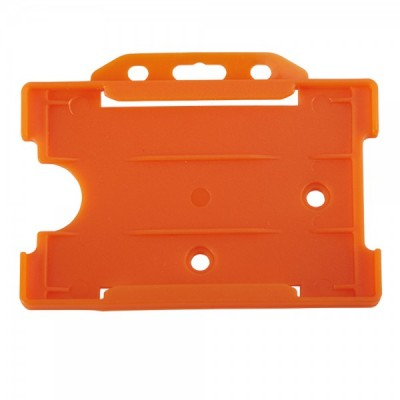 Open Faced Horizontal Badge Holders - Orange - 100 Pack