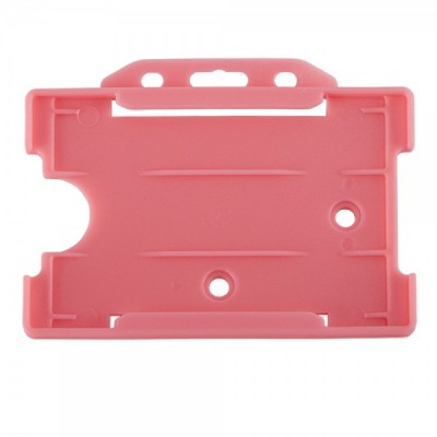 Open Faced Horizontal Badge Holders - Pink - 100 Pack