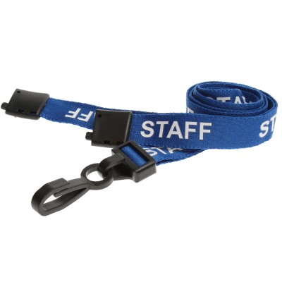 Pre-Printed Breakaway Lanyard – Staff – Blue – Plastic Hook