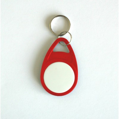Red Tear Key Fob with White Face - EM4200