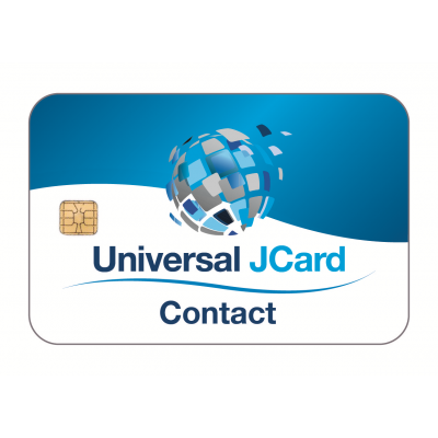 Universal JCard (Contact) White Gloss PVC Card