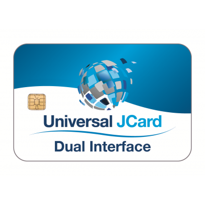 Universal JCard (Dual Interface) White Gloss PVC Card