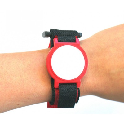 Red Nylon Velcro Strap with White Face - EM4200