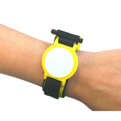 Yellow Nylon Velcro Strap with White Face - NXP MIFARE® Ultralight EV1